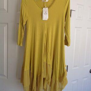 Tops - Yellow tunic top